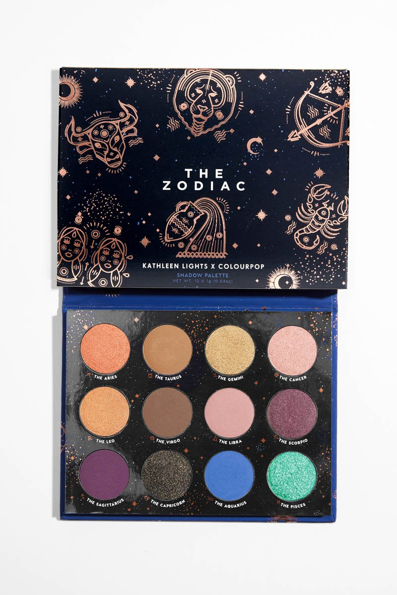 Matte Brown Eyeshadow Palette: Colourpop The Zodiac Pressed Powder Shadow Palette
